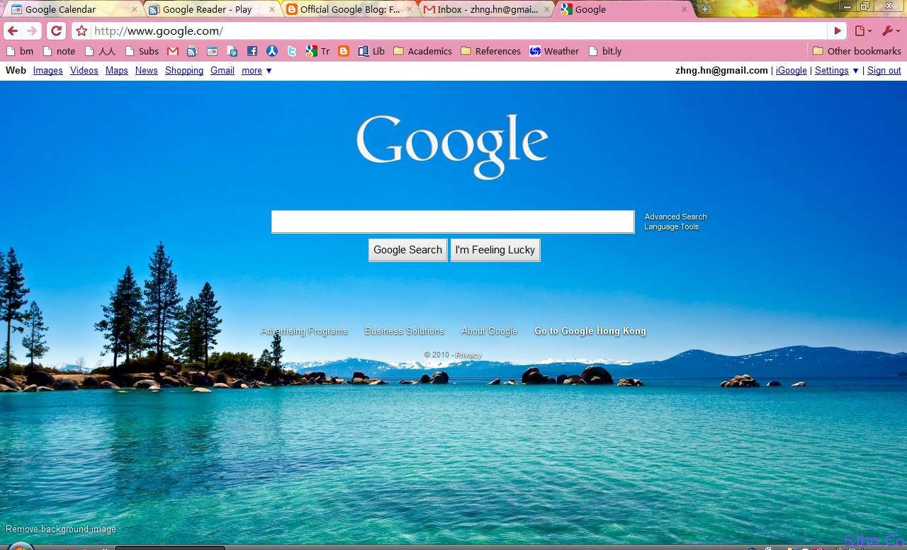how to change image on google search homepage