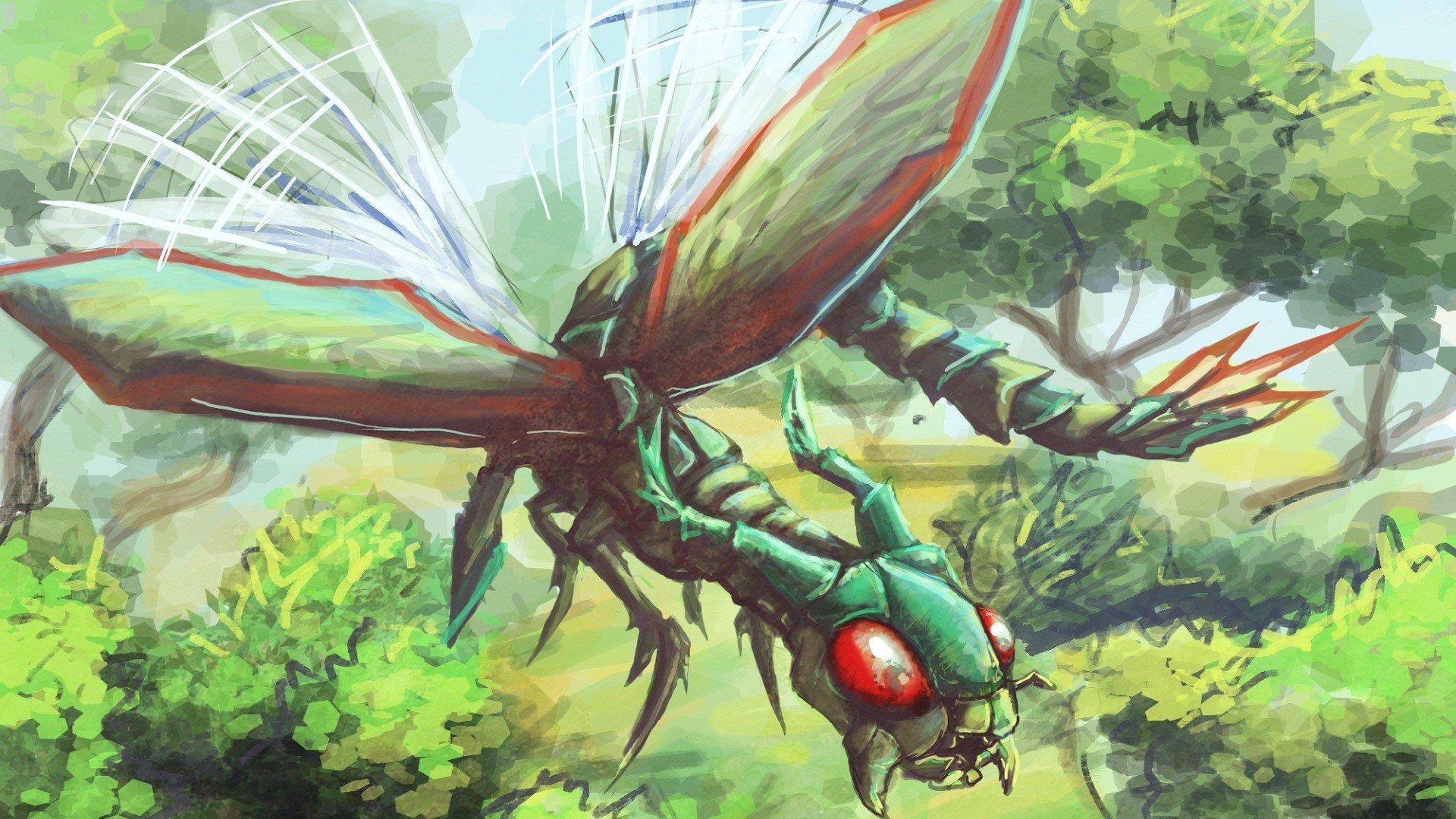 Nintendo Pokemon insects Flygon wallpaper 1920x1080 294308 1920x1080