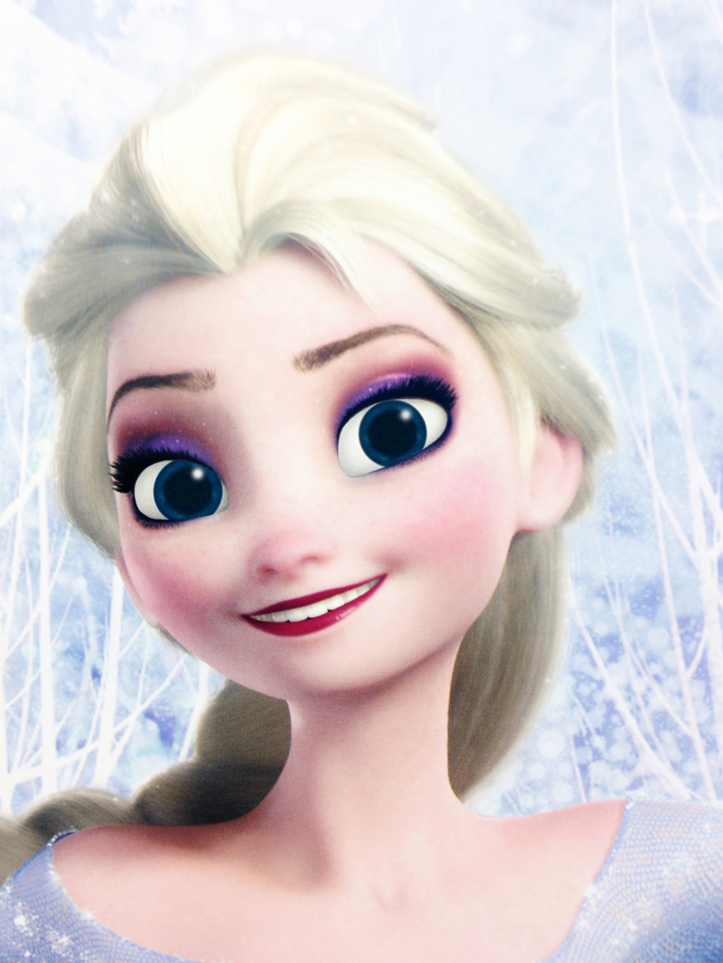 Ice Skating Elsa Eye Contact Poster by TeleVue 1024x1363