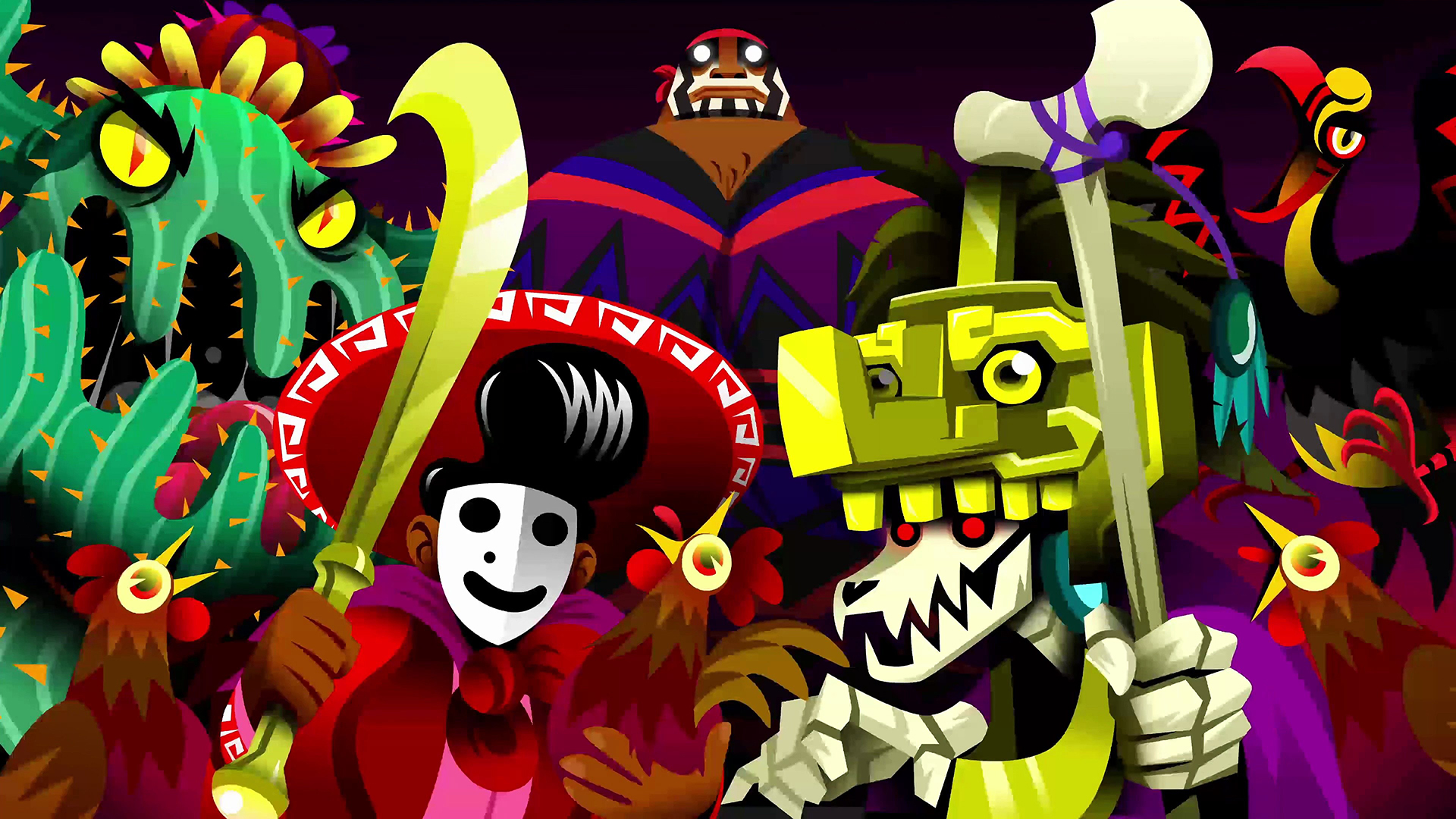 Guacamelee 2 Laptop Background 1920x1080