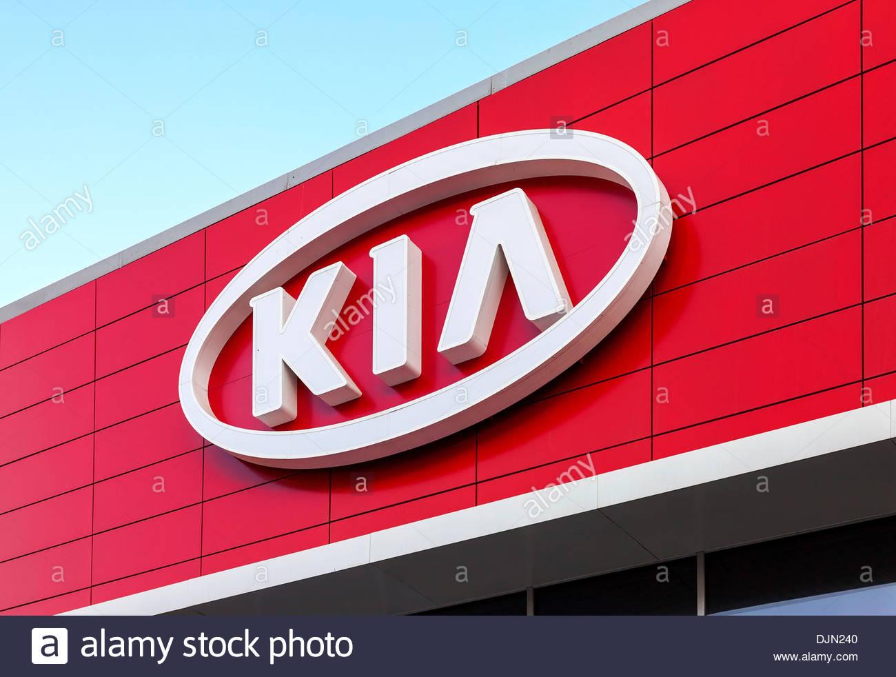 The emblem KIA motors on blue sky background Stock Photo 63157584 1300x982
