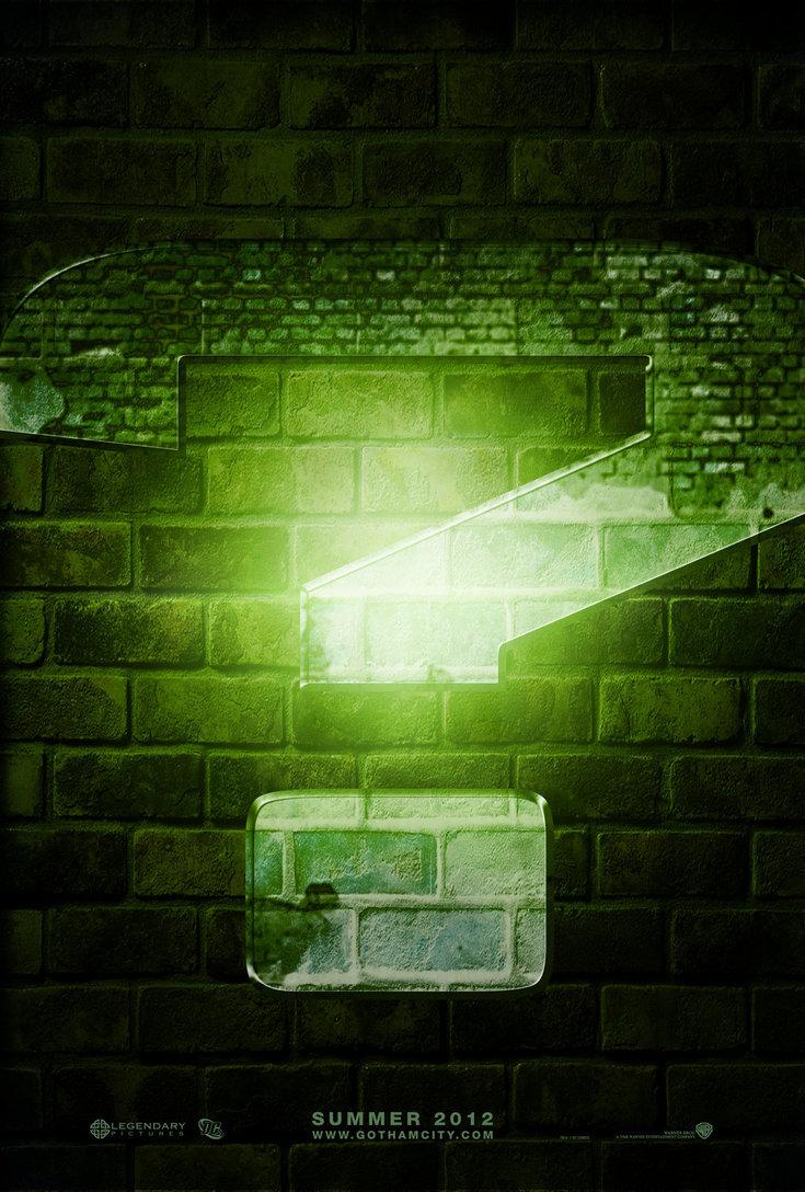Riddler Question Mark Wallpaper Batman 3 riddler teaser by 735x1088