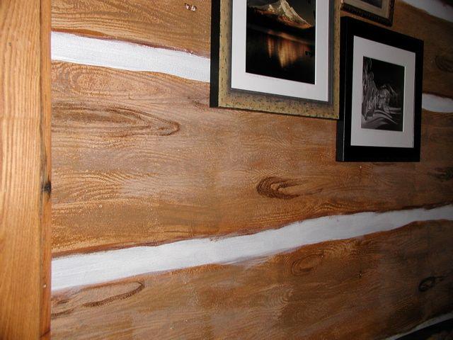 Faux Log Cabin Wallpaper Wallpapersafari