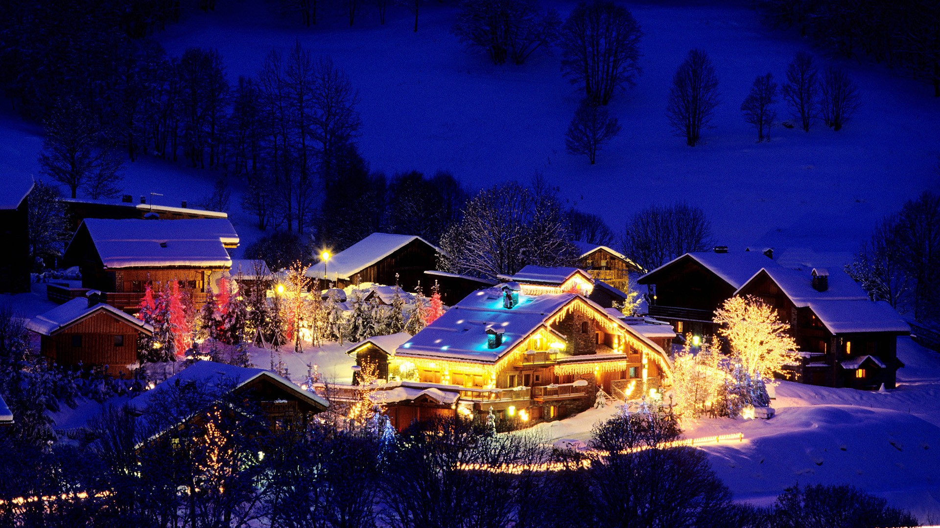 France Christmas Wallpaper 1920x1080 France Christmas Ski Resort 1920x1080