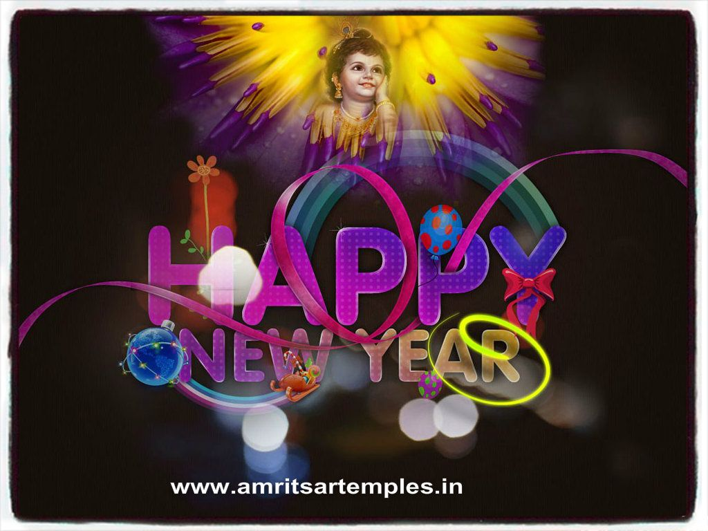 Happy New Year Krishna Image 16