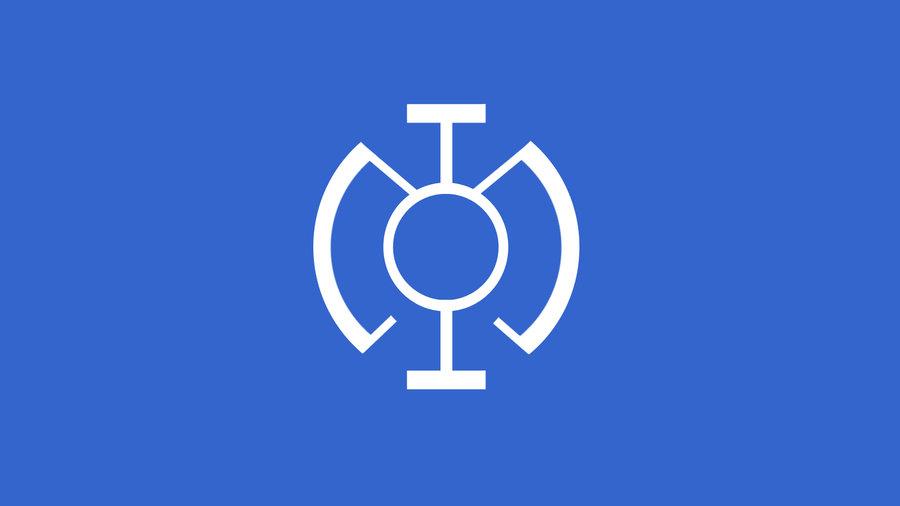 Blue Lanterns Symbol   Minimalistic Wallpaper by SpokeTheBear on 900x506