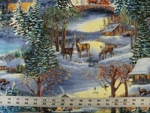 Wallpaper Deer And Cabin Wallpapersafari
