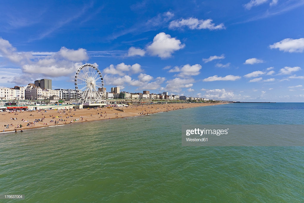 England Sussex Brighton View Of Beach And Big Wheel In Background 1024x683