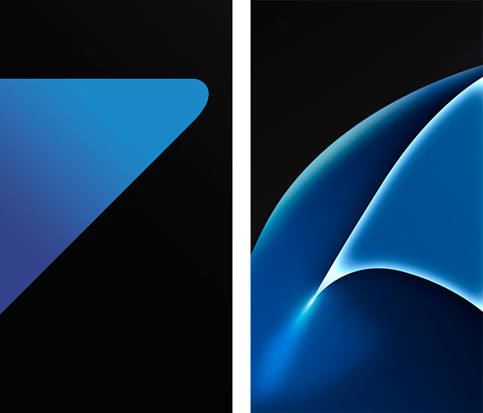both Samsung Galaxy S7 wallpapers from the download link below 700x599