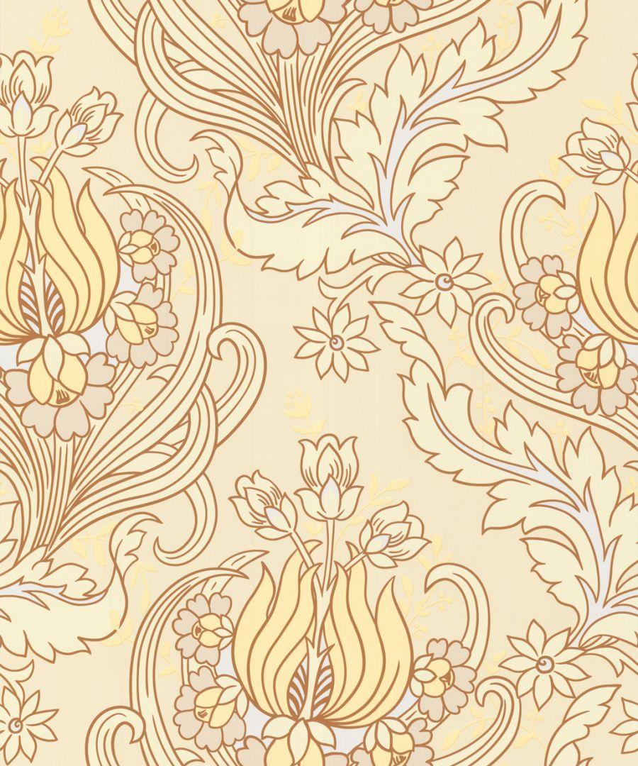 Graham Brown Wallpaper Amy Butler temple tulips field wallpaper 900x1080