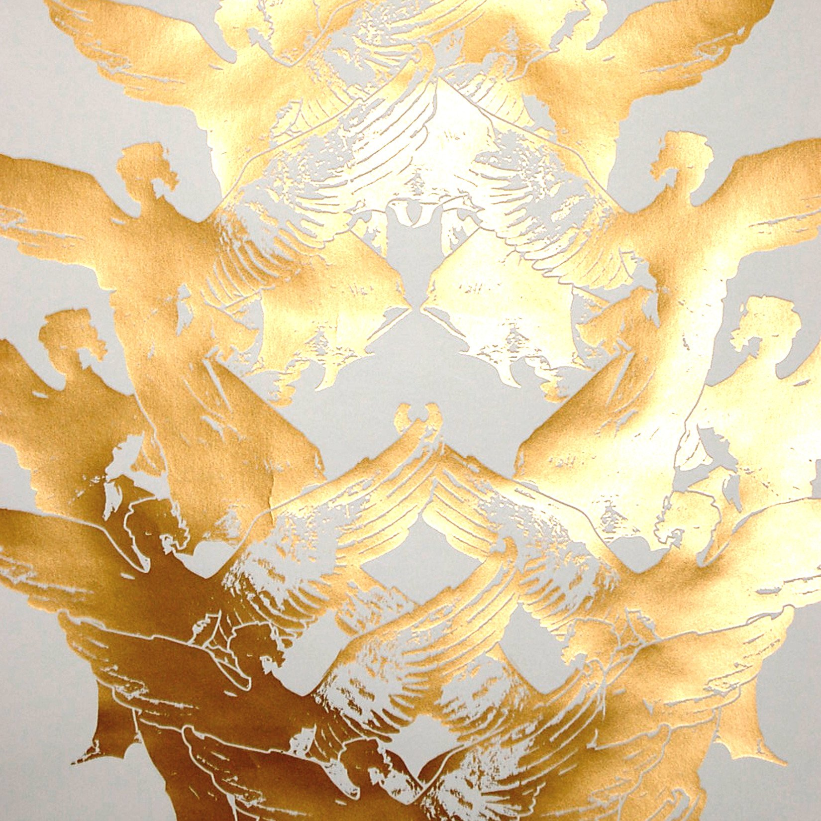 Aphrodite Wallpaper in Goldendust design by Jill Malek 1650x1650