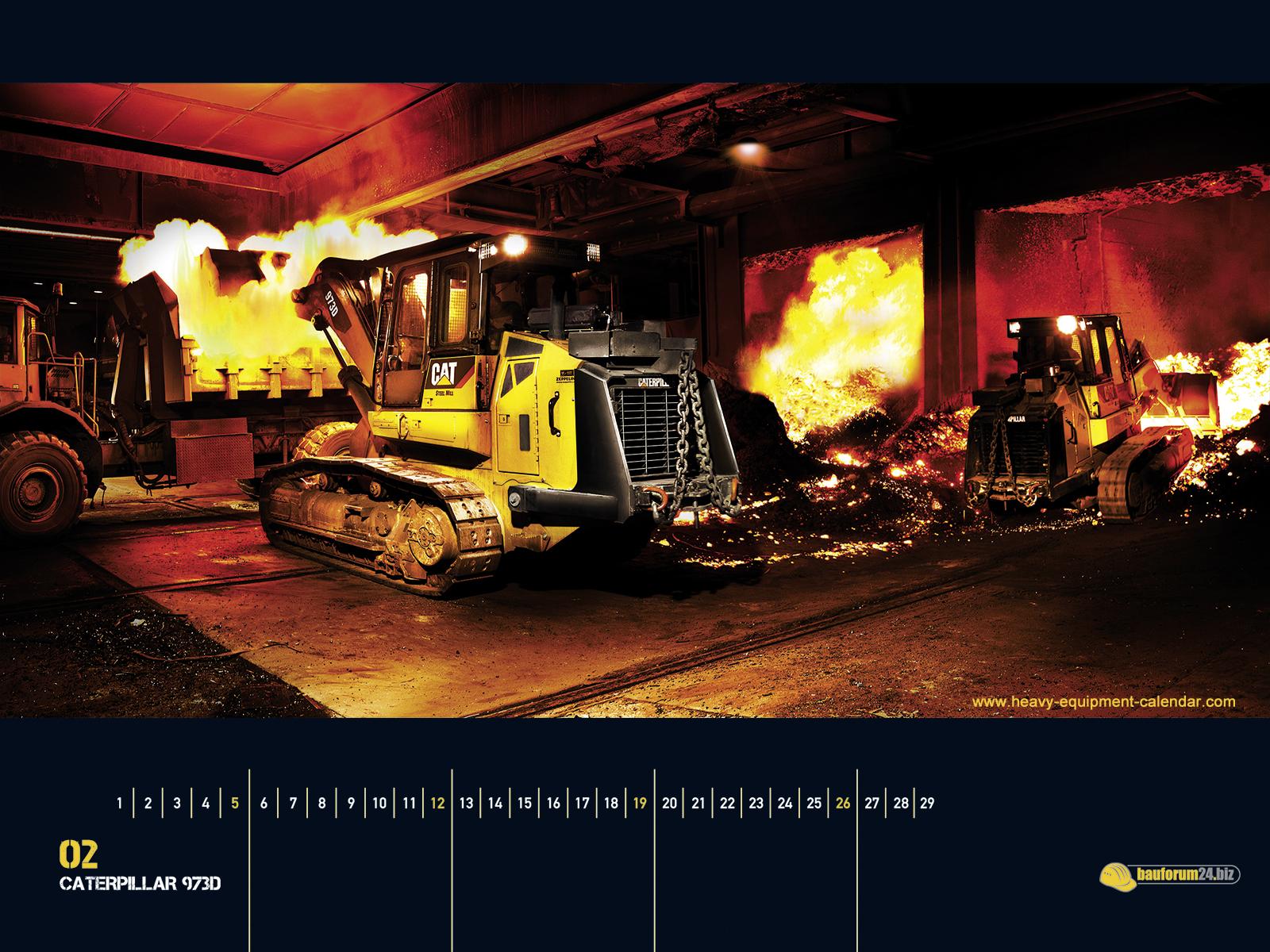 CATERPILLAR 973D Heavy Equipment Calendar 1600x1200