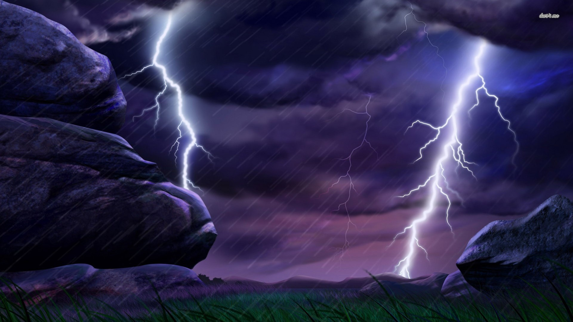 Name 21541 lightning strikes 1920x1080 digital art wallpaperjpgViews 1920x1080