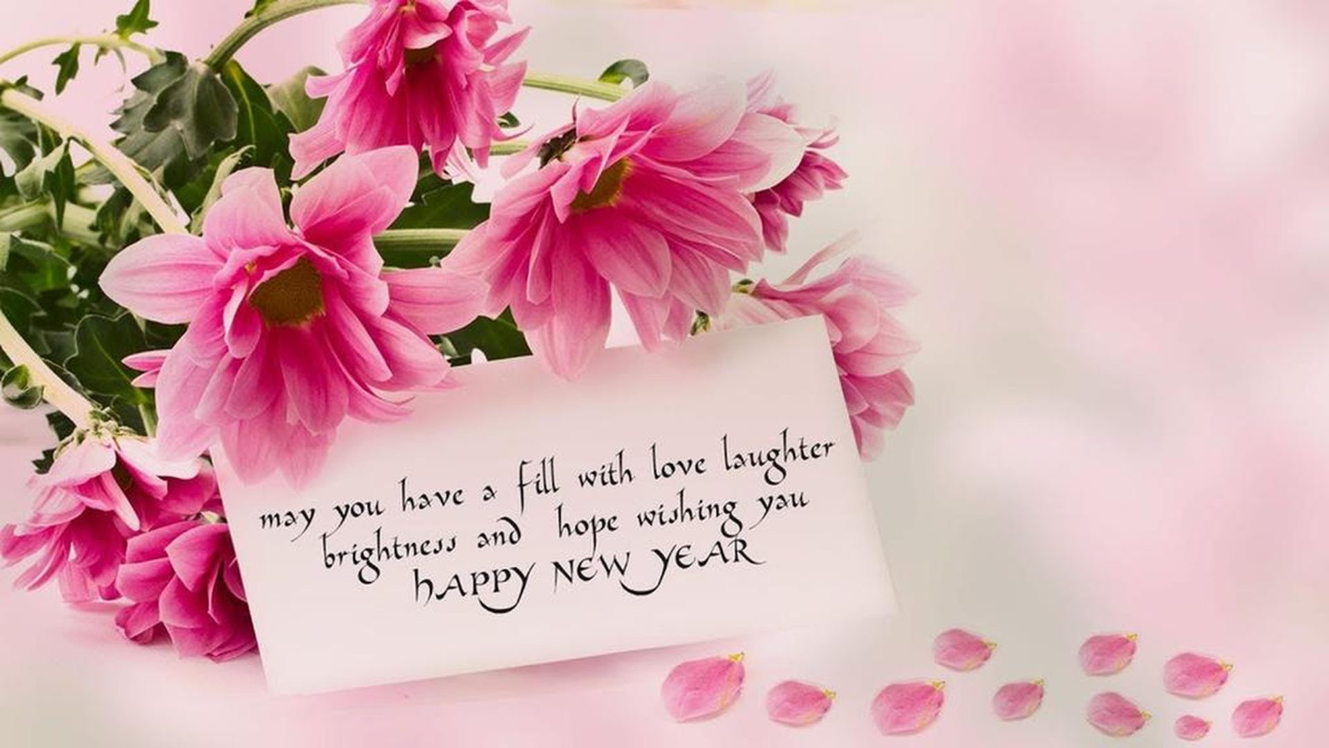 Happy New Year 2020 Rose Flowers Love Wallpapers Hd 5120x2880 1920x1080