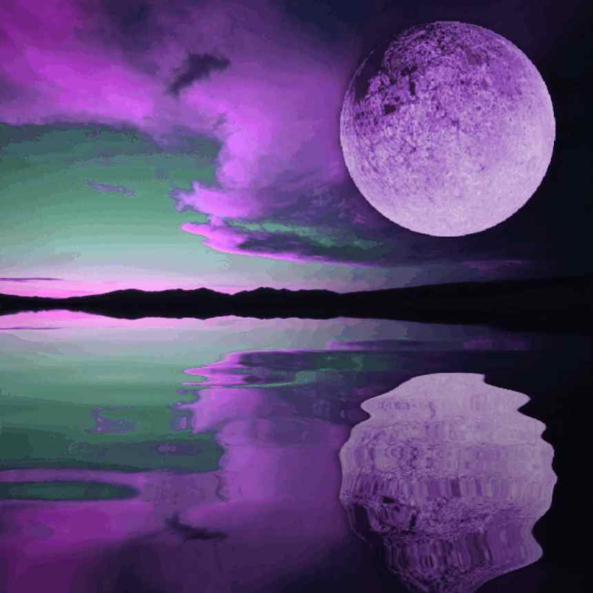 Purple Moon Sunset