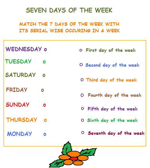 Free Days Of The Week Worksheets For First Grade - Intrepidpath