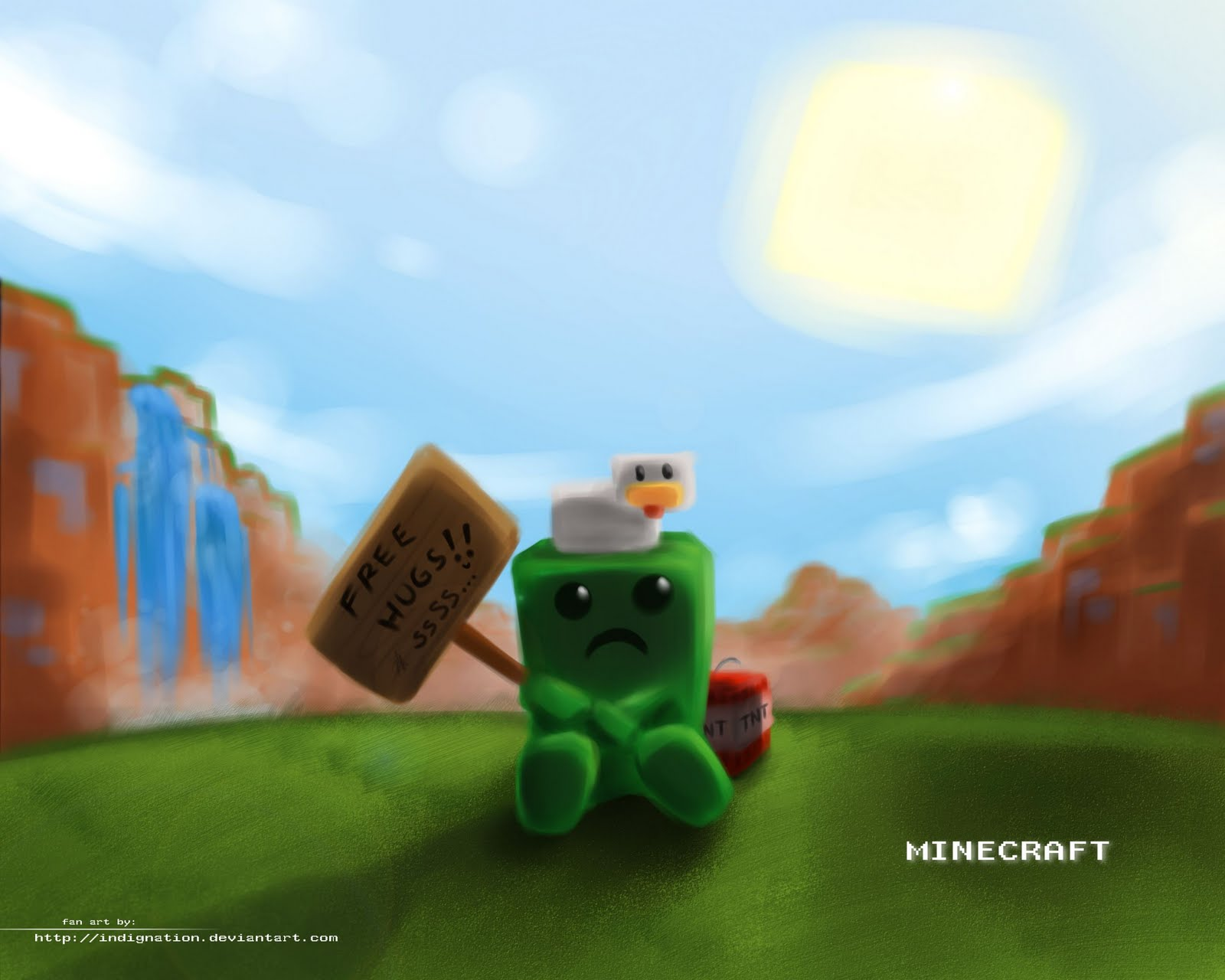 Free Download Creeper About To Blow Up It Is Flashing And