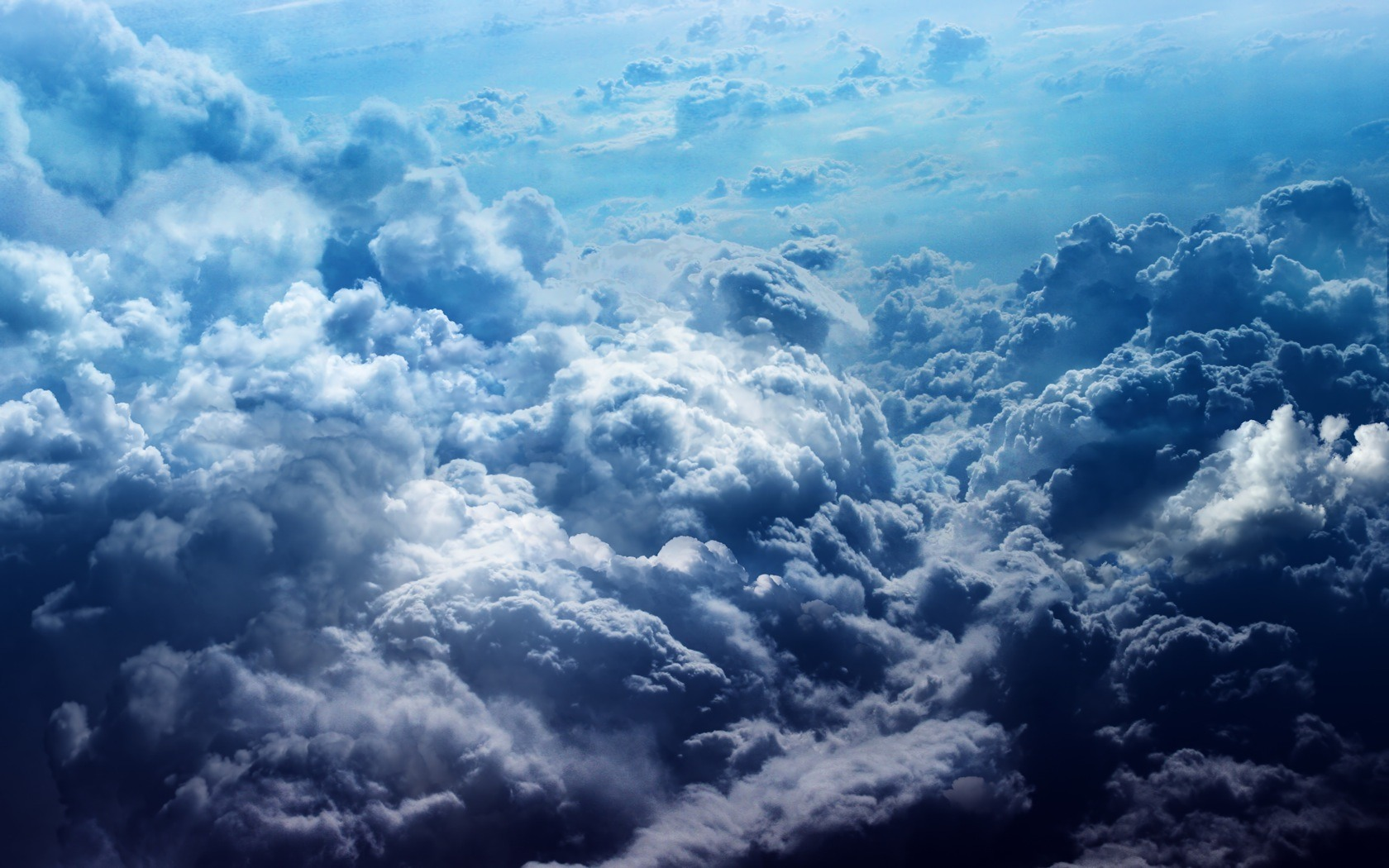 Blue Clouds desktop wallpaper 1680x1050