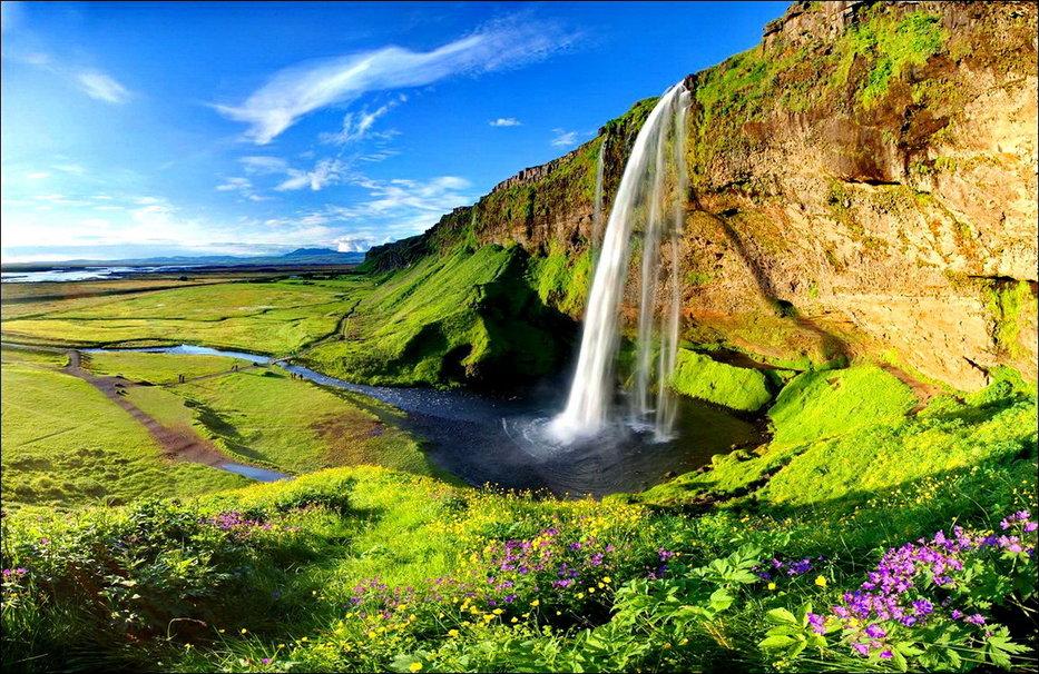 Waterfall in Iceland wallpaper   ForWallpapercom 933x606