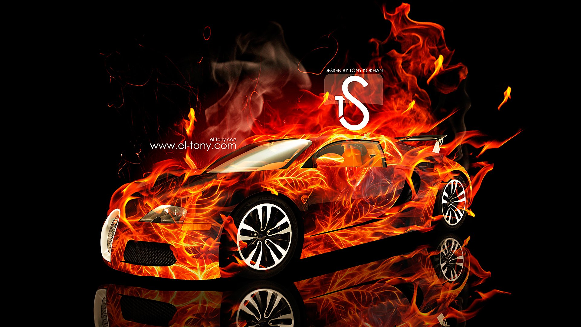 Bugatti Veyron Fire Car 2013 HD Wallpapers 1920x1080 [wwwel tonycom] 1920x1080