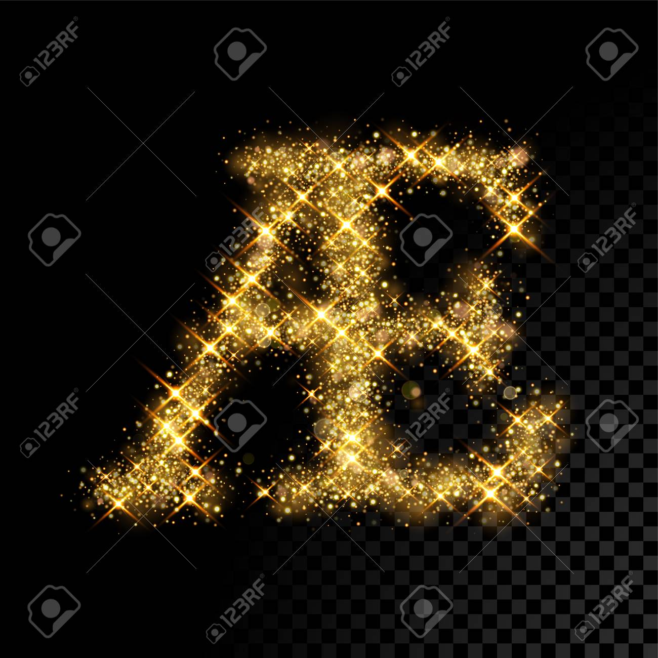 Gold Glittering Letter AE Ligature Vector Shining Golden French 1300x1300
