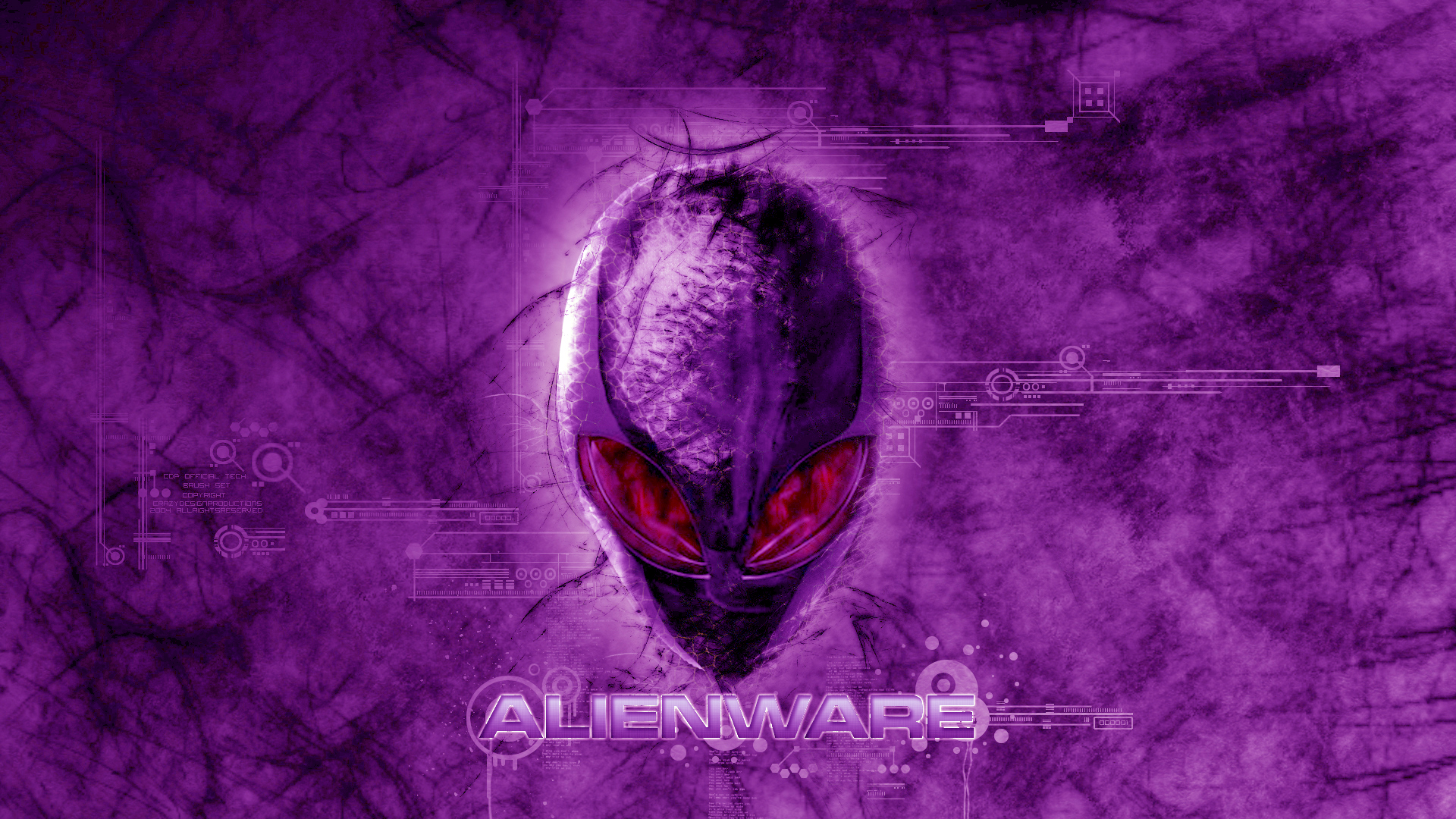 alienware dark violet red eyes logo hd 1920x1080 1080p wallpaper 1920x1080