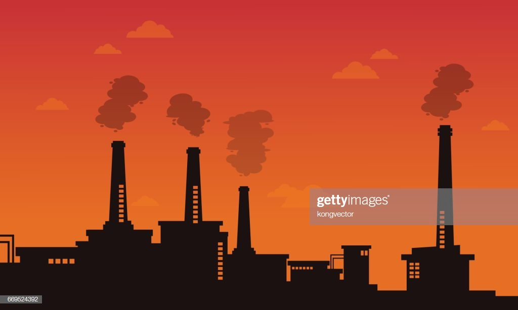 Pollution Industry Bad Environment Background High Res Vector 1024x614