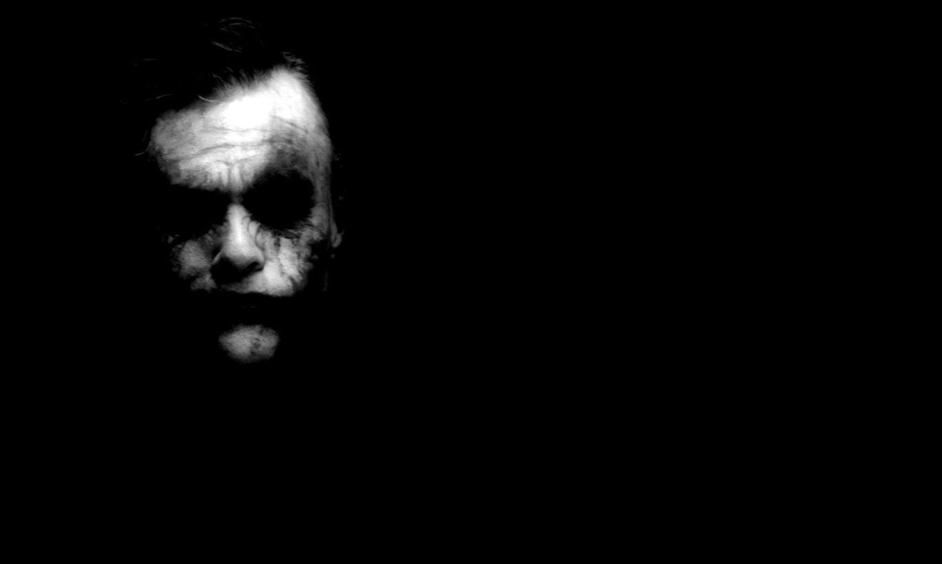 Joker Black Desktop Background