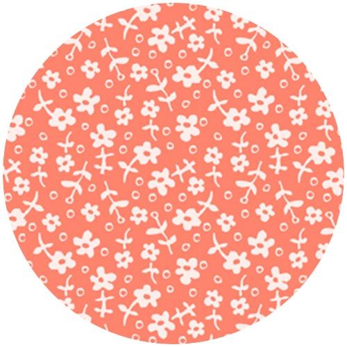 Sarah Jane Children At Play Wallpaper Flowers Coral 400half yard 500x500