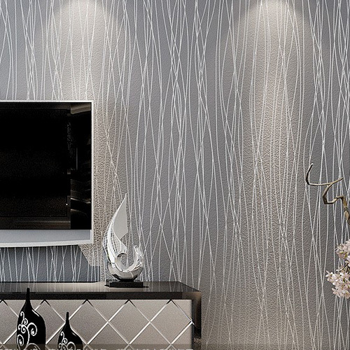 Bedroom Living Room Home Decor Modern Papel De Parede Tapete Grey 500x500