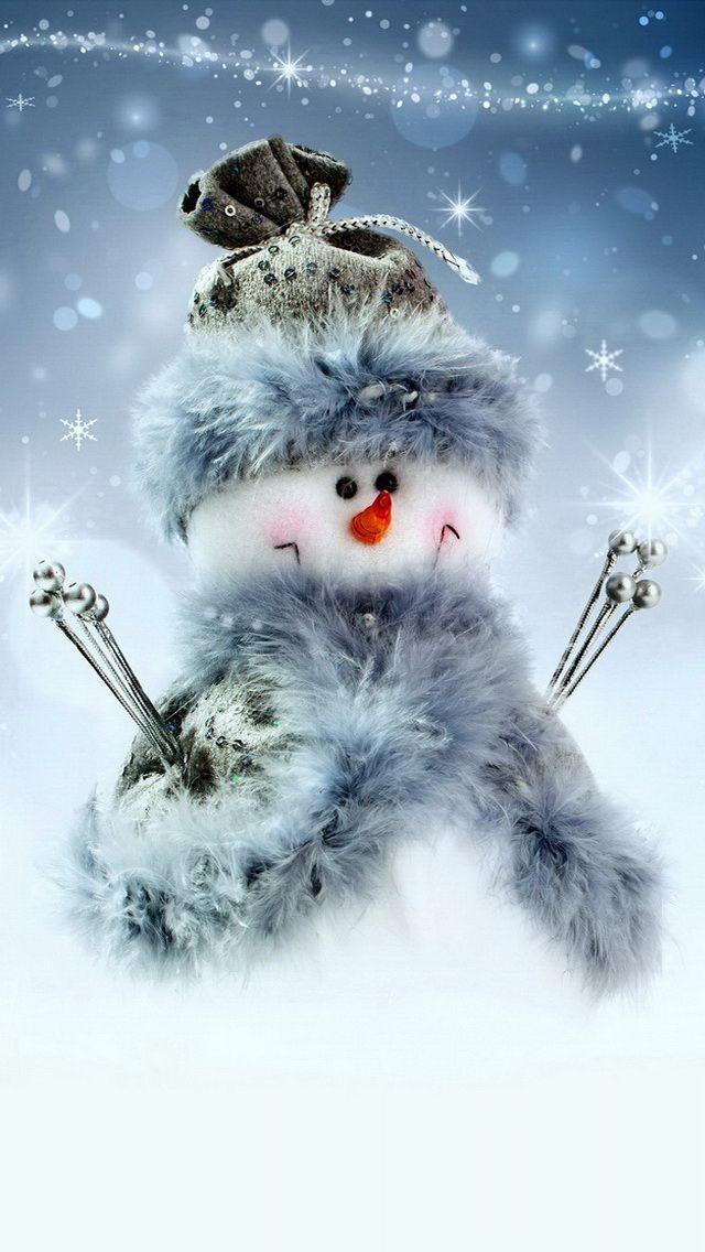 WINTER CHRISTMAS SNOWMAN IPHONE WALLPAPER BACKGROUND IPHONE 640x1136
