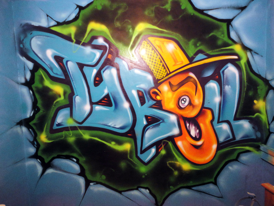 Tyrel Bboy Graffiti Art Bedroom Mural Cardiff Graffiti Art Murals 950x713