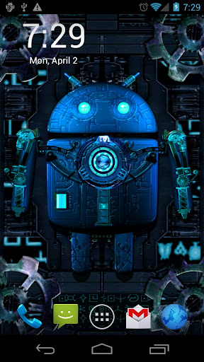 Steampunk Droid Live Wallpaper 10 apk v10 Android App 288x512