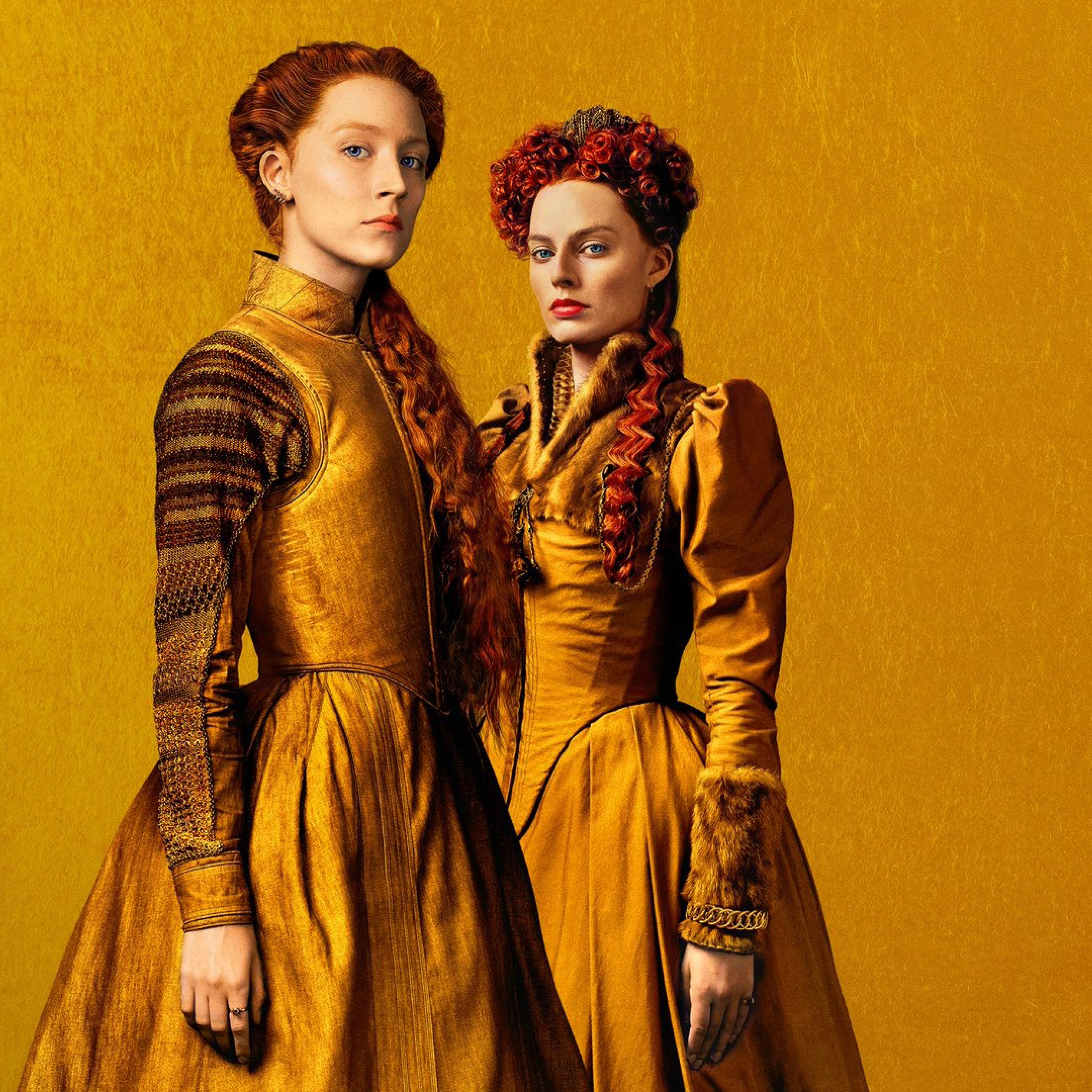 2932x2932 Margot Robbie and Saoirse Ronan in Mary Queen of Scots 2932x2932