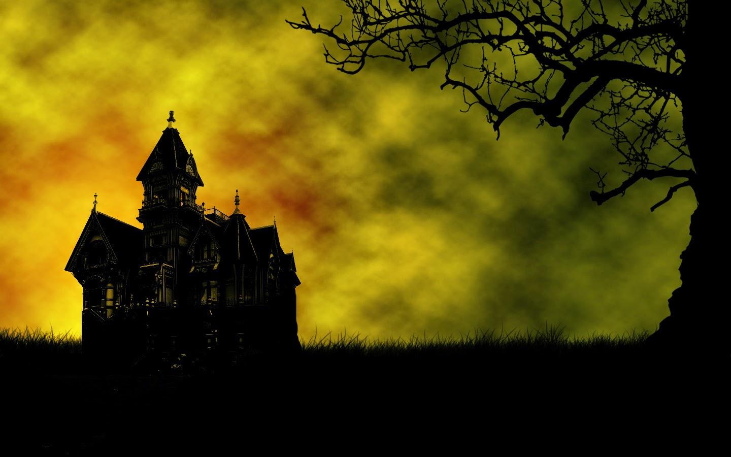 comfree cat and bats wallpaper halloween screensavers animatedhtml 1440x900