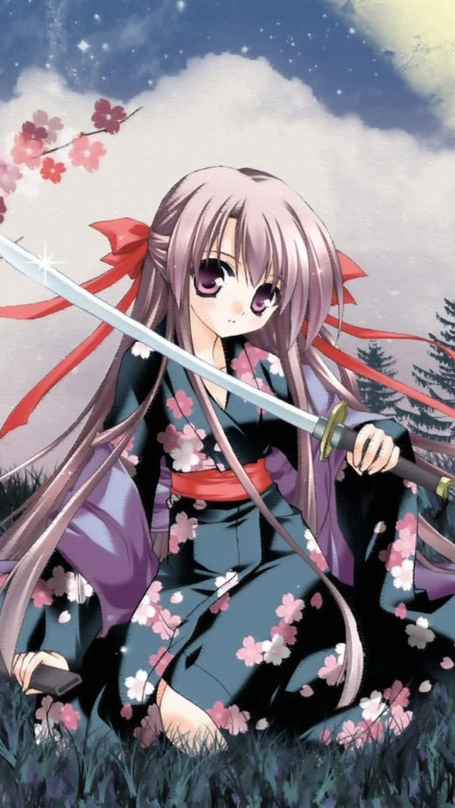 Anime Katana iPhone 5 Wallpaper 640x1136 640x1136