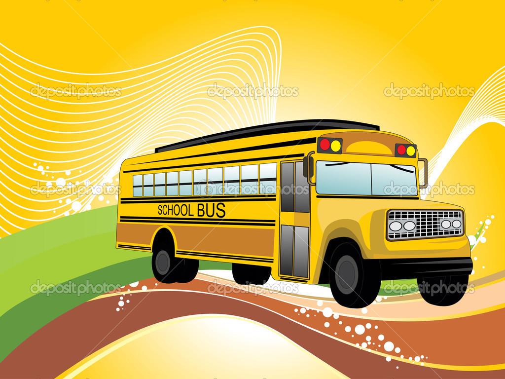 School Bus Wallpaper Background with school bus 1024x768