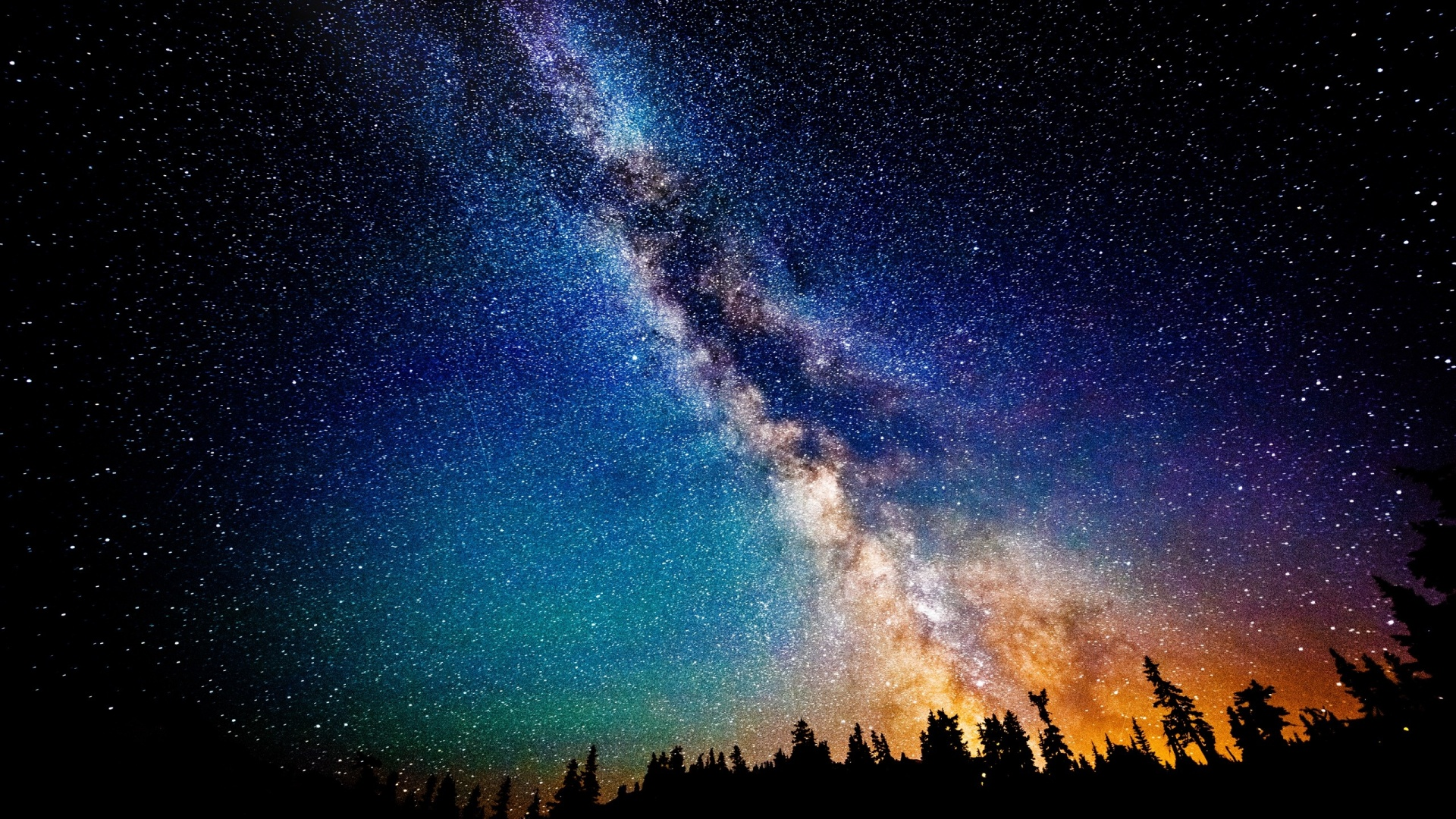 1920x1080 The Milky Way at Night desktop PC and Mac wallpaper 1920x1080