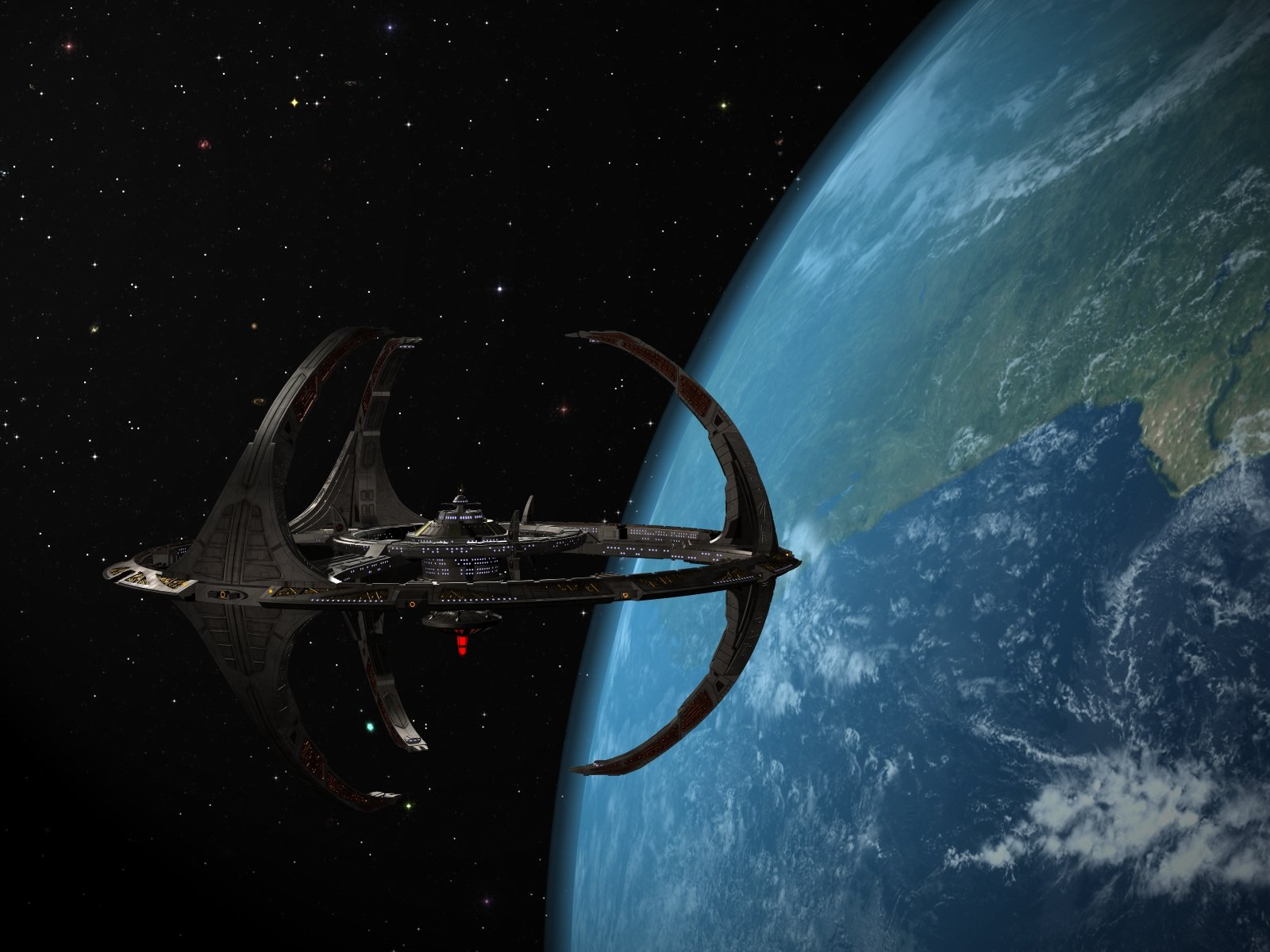 DEEP SPACE NINE Star Trek futuristic television sci fi spaceship 32 1600x1200