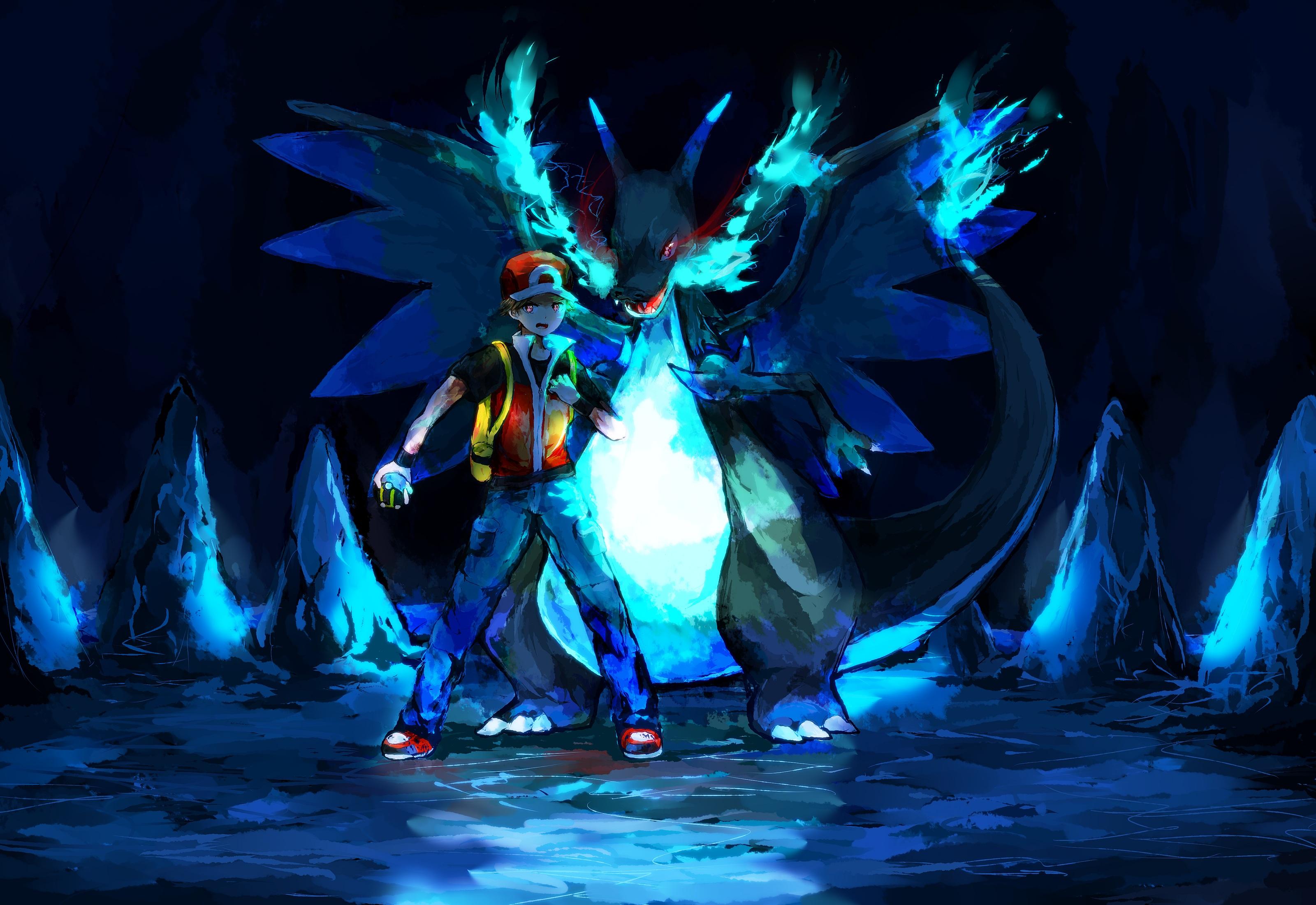 Pokemon Trainer Red Wallpaper 3200x2200