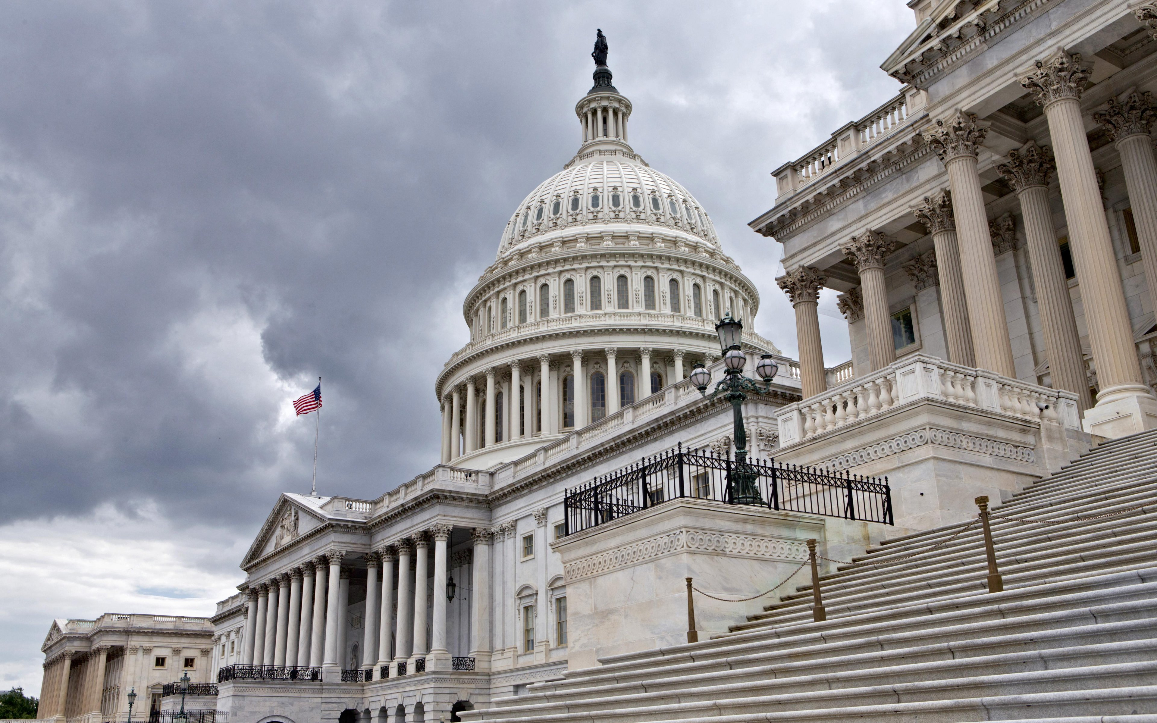 Download wallpapers Capitol Washington US Congress Capitol Hill 3840x2400