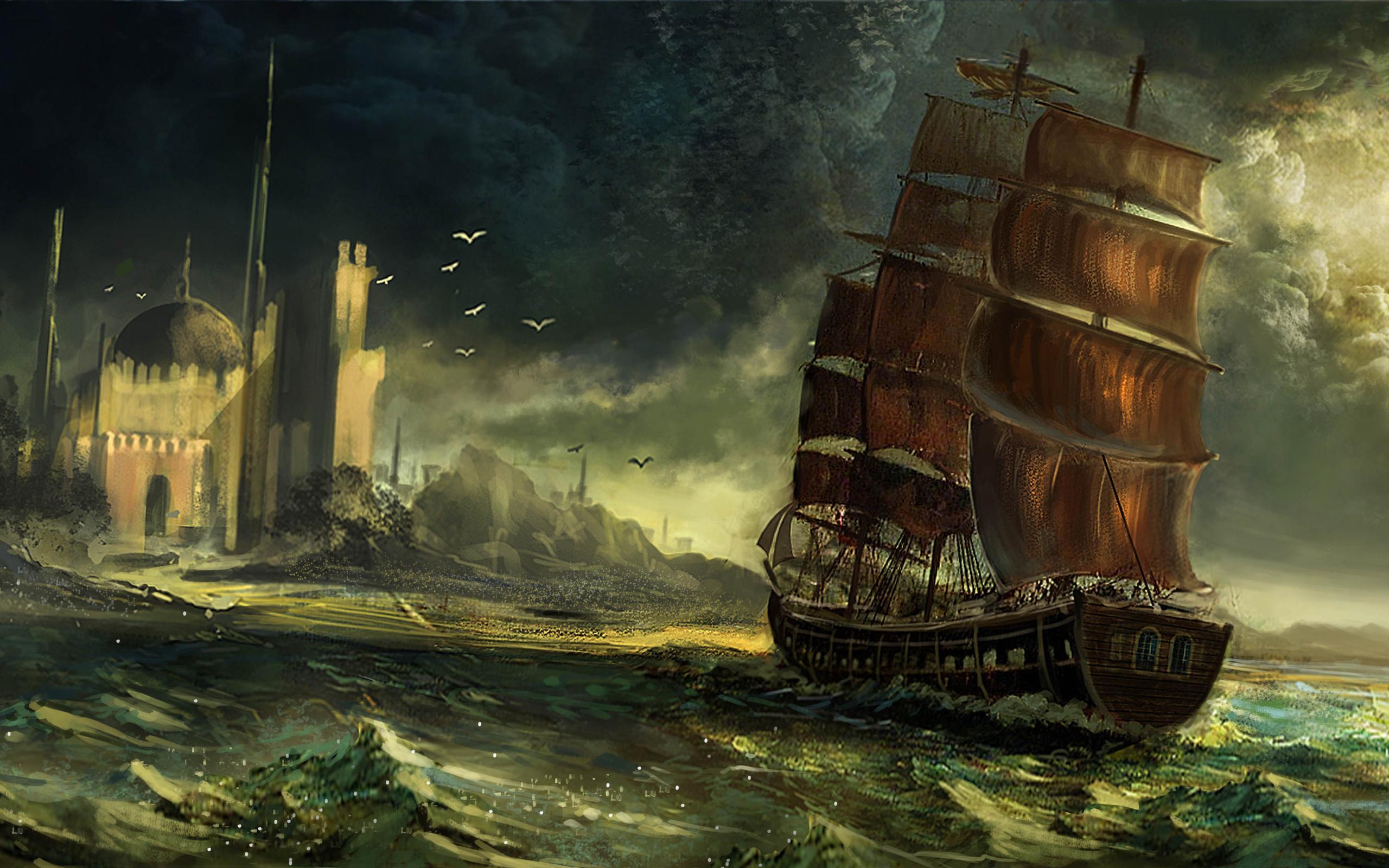 pirate ship wallpaper hd wallpapersafari