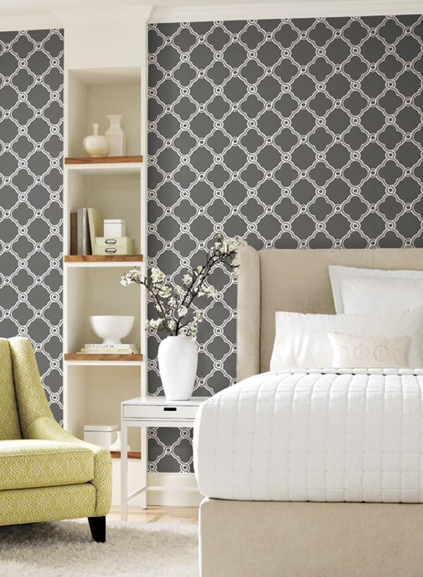 Moroccan inspired wallpaper Home [Bedrooms] Pinterest 600x817
