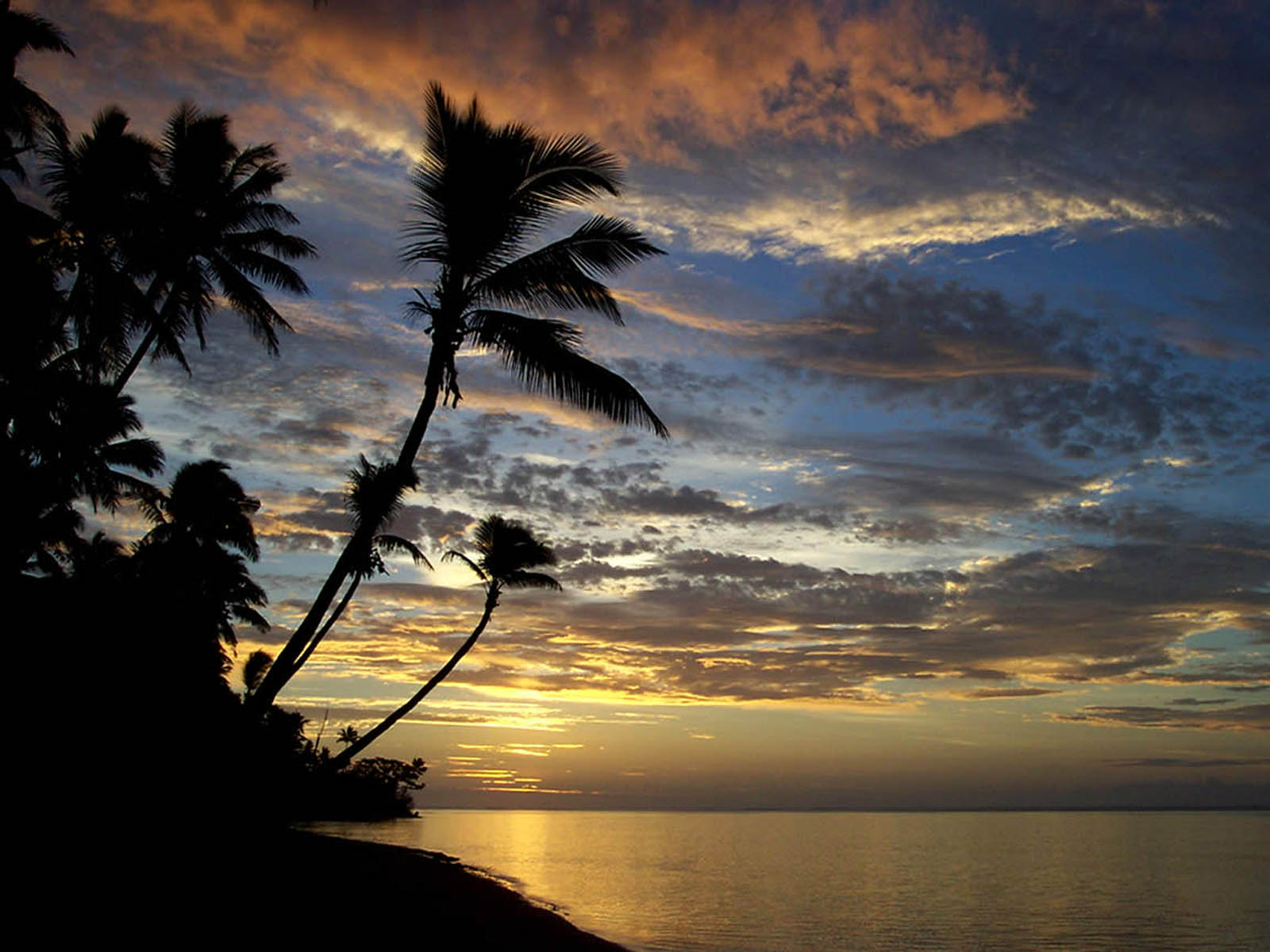 wallpapers: Island Sunset Wallpapers