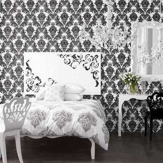 Fresh Decor Black And White Wallpaper Decor For Stylish Room 554x554