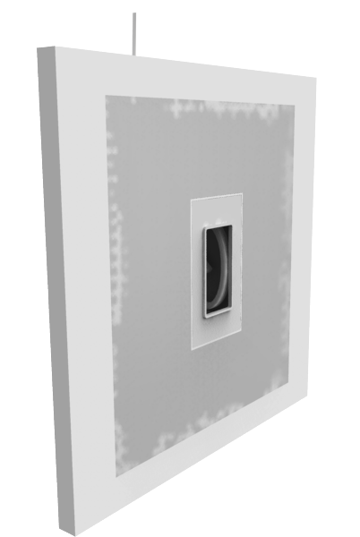 Drywall with Smoothline flush wall plate flange and joint compound 402x600