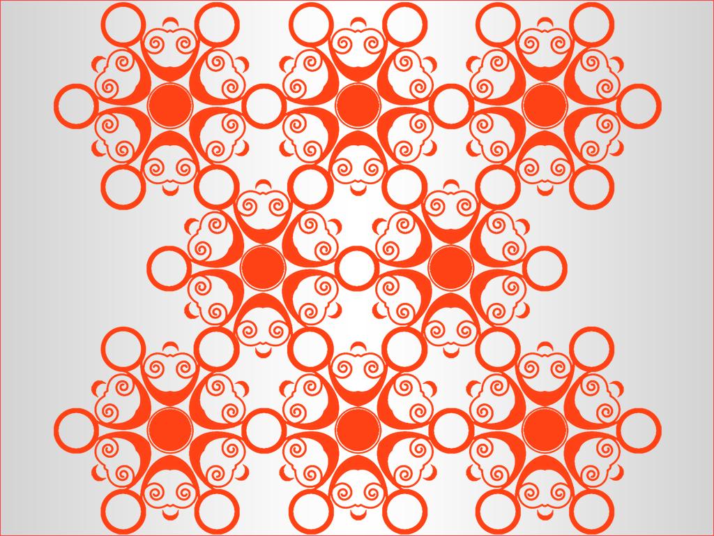 Orange Swirly Eyes Pattern Wallpaper 1024x768