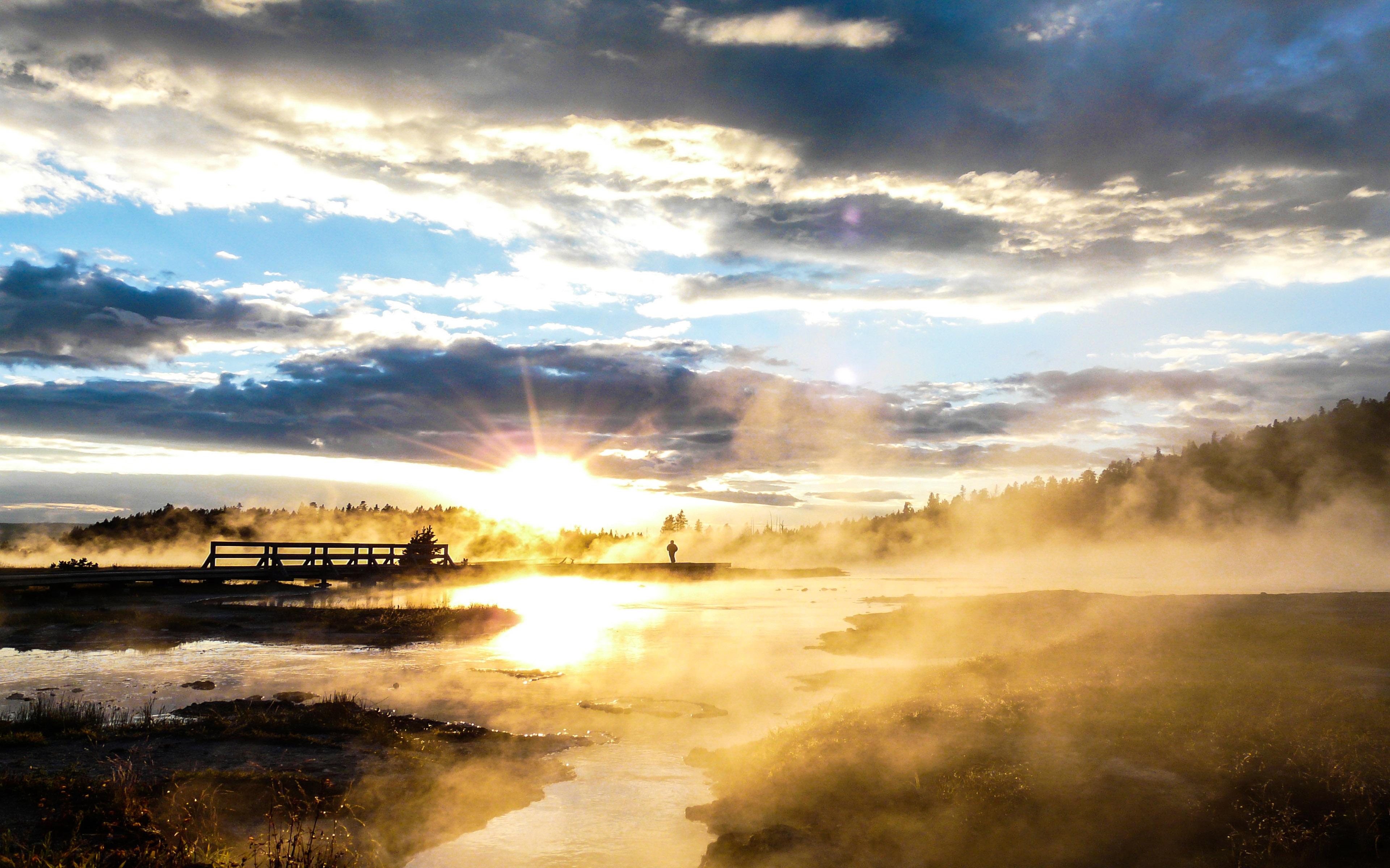 Yellowstone National Park Sunset Wallpaper 3840x2400