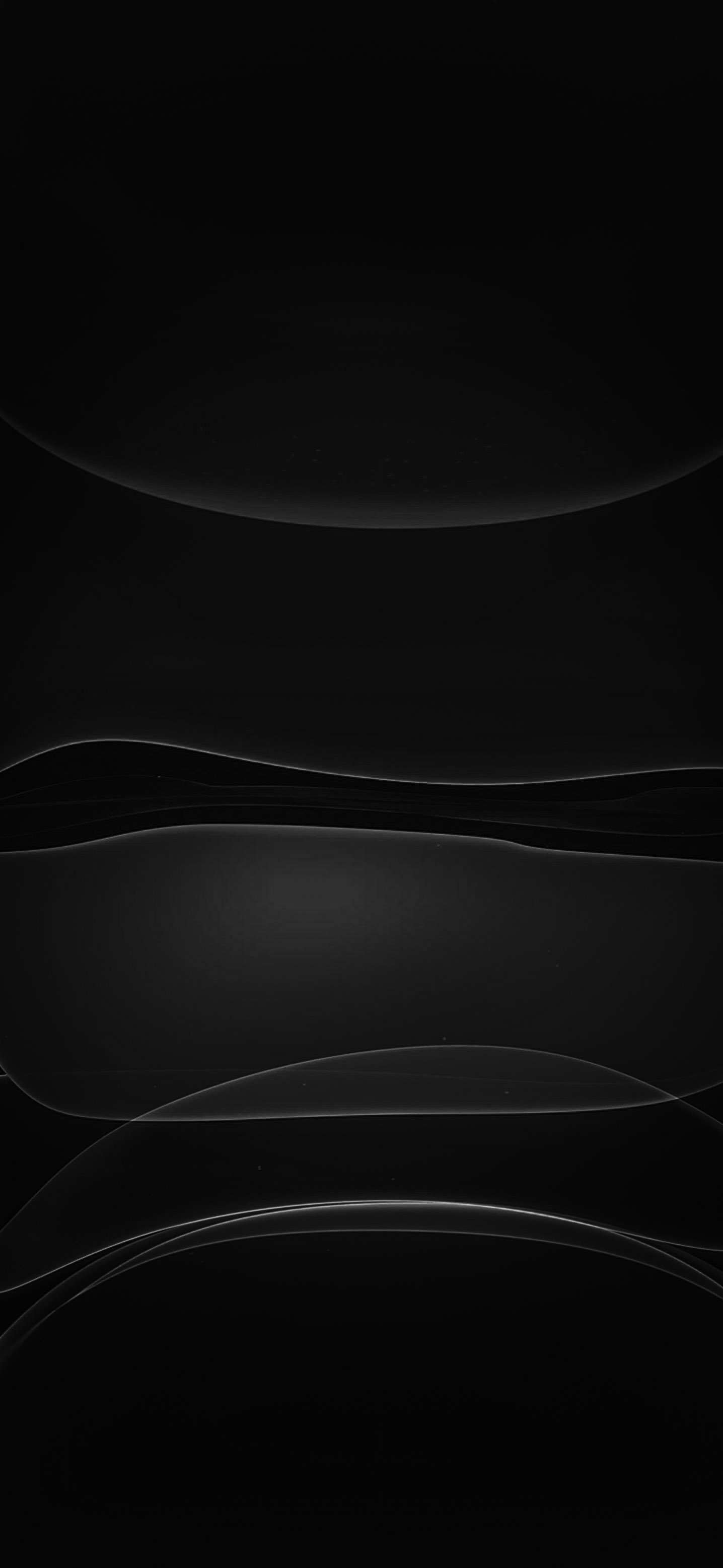 Stock Apple 12 Black Wallpaper HD 1436x3113