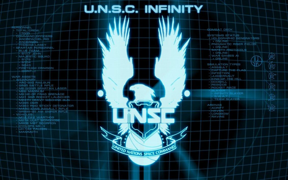 unsc logo blueDropshock Brigade Briefing Room Halo 4 UNSC Wallpaper 1131x707